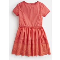 Bright Coral Lisette Broderie Dress 3-12 Yr  Size 9Yr-10Yr