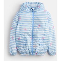 Blue Lobster Stripe Golightly Short Packable Rain Jacket 3-12Yr  Size 11Yr-12Yr