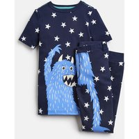 Navy Star Monster Raoul Short Sleeve Pj Set 1-12 Yr  Size 7Yr-8Yr