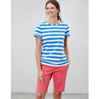 Blue Cream Stripe Nessa Stripe Lightweight Jersey T-Shirt  Size 10