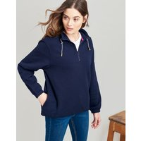 French Navy Bewley Casual Half Zip Sweat  Size 8