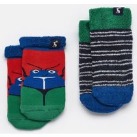 Red Bug Multi Two Pack Terry Towelling Socks  Size 0M-6M