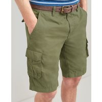 Dark Green Cargo Cotton Shorts  Size 34