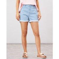 Shirley Striped Denim Shorts