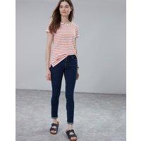 Cream Orange Stripe Nessa Lightweight Jersey T-Shirt  Size 12