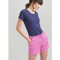 PINK CREAM STRIPE Elle Jersey Stripe Shorts  Size 12