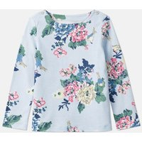 Light Blue Rabbit Floral Harbour Print Jersey Top 1-6 Years  Size 2Yr