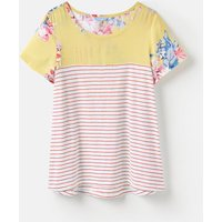 Lemon Whitstable Floral 204547 Jersey Woven Mix T-Shirt  Size 8