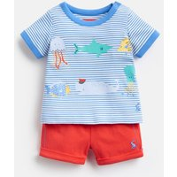 NEW MELON 204679 Short Sleeve Top and Shorts Set  Size 6m-9m