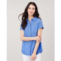 Dela Texture Sleeveless Button Through Shirt