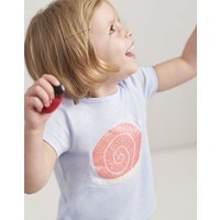 BLUE GLITTER SNAIL Pixie JERSEY SCREENPRINT T-SHIRT 1-6yr  Size 3yr