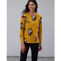 Gold Peony Harbour Print Long Sleeve Jersey Top