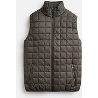 Dark Grey 207506 Lightweight Square Quilt Gilet  Size L