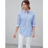 White Lobster Stripe Lucie Printed Woven Shirt  Size 12