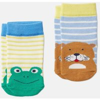 Multi Otter Frog Neat Feet Character Socks Two Pack  Size 12M-24M