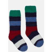 Multi Stripe Fab Fluffy Single Socks  Size Childrens 9-12