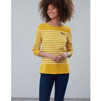 Gold Stripe Dog Harbour Embroidered Long Sleeve Jersey Top