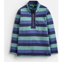 NAVY GREEN MULTI STRIPE Dale HALF ZIP SWEATSHIRT 1-12yr  Size 6yr