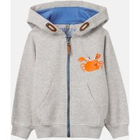 Grey Beach Crab Seth Novelty Screenprint Hooded Sweatshirt 1-6Yr  Size 5Yr