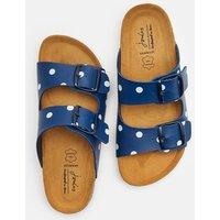 Dark Blue Spot Penley Printed Slider Sandal  Size Adult Size 4