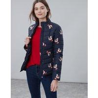 Navy Posy Harrogate Printed Padded Jacket  Size 10