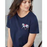 French Navy Official Burghley Horse Trials Embroidered T-Shirt