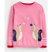 Blossom Pink Squirrel Bronty Knitted Jumper 1-6 Years  Size 4Yr