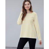 Cream Gold Stripe Matilde Square Neck Jersey Top  Size 8