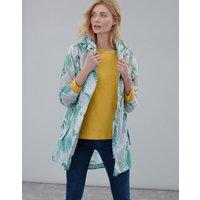 Grey Fern Golightly Print Waterproof Packaway Jacket  Size 20