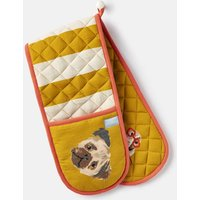 Gold Dog Kitchen Oven Gloves  Size One Size