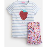Blue Stripe Strawberry Ayla Short Pyjama Set 1-12 Yr  Size 1Yr