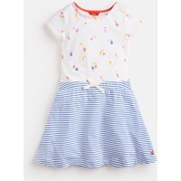 White Fruit Karolina Print Mix Dress 3-12 Years  Size 7Yr-8Yr