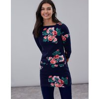 Navy Rose Quinn Printed Tunic  Size 16