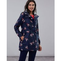 Navy Posy Golightly Print Waterproof Packaway Jacket  Size 18