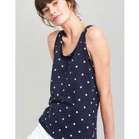 NAVY SPOT Bo print Jersey Vest  Size 6