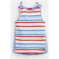 Blue Multi Stripe Iris Shoulder Knot Vest 3-12 Yr  Size 11Yr-12Yr