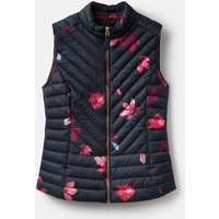 Navy Chestnut Leaves 206934 Printed Gilet  Size 8