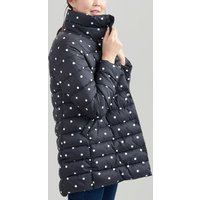 NAVY SPOT Wroxham print Large Collar Reversible Padded Coat  Size 10