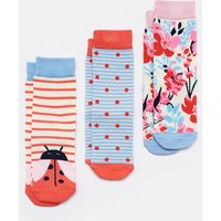 Pink Lady Bird Brilliant Bamboo Socks Three Pack  Size Size 13-3