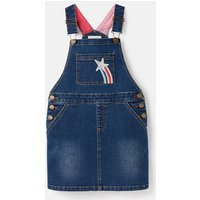 215693 Denim Dunagree Dress 3-12 Years