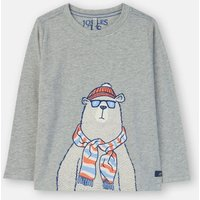 Grey Polar Bear Finlay Screenprint T-Shirt 3-12 Years  Size 5Yr