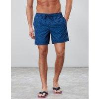 Navy Light Blue Palm Heston Swim Shorts  Size S