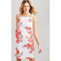 WHITE FLORAL Darcie Sleeveless woven shift dress  Size 12