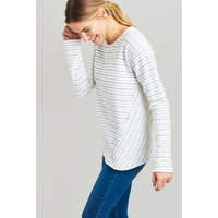 CREAM BLUE STRIPE Selena Sweatshirt  Size 16
