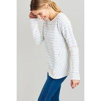 CREAM BLUE STRIPE Selena Sweatshirt  Size 10