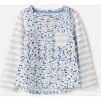 Light Blue Spot Mish Mash Print Mix T-Shirt 3-12 Years  Size 3Yr
