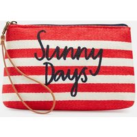 RED STRIPE SUNNY Como Pouch Clutch Bag  Size One Size