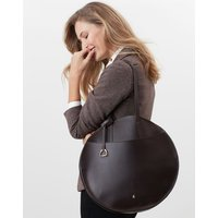 Foxton Large Round Leather Bag