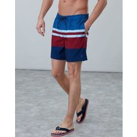 Blue Navy Stripe Heston Swim Shorts  Size L