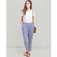 NAVY GEO Sophia Printed Woven Trousers  Size 12